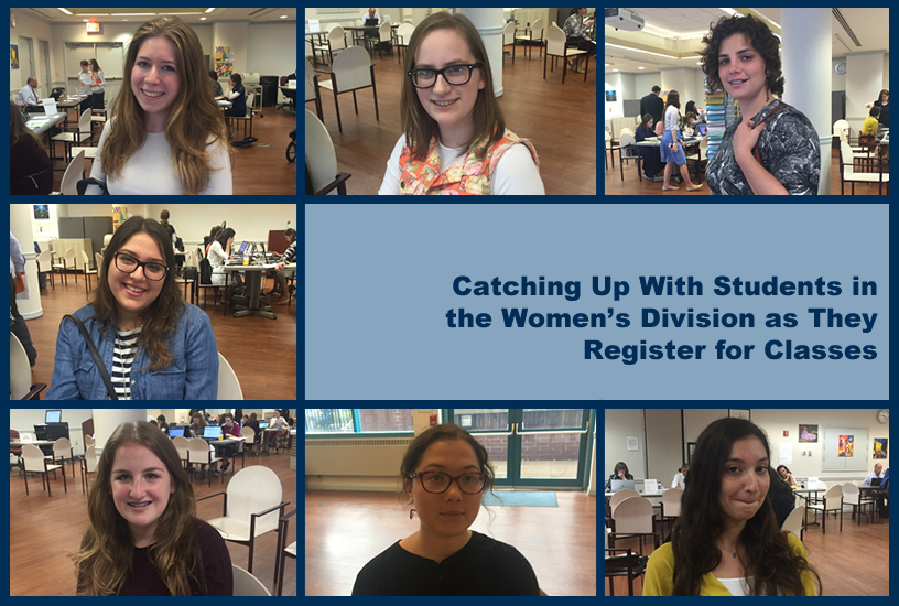 Meet some of the students in the LAS women's division as they register for fall 2016 classes (LAS homepage banner).