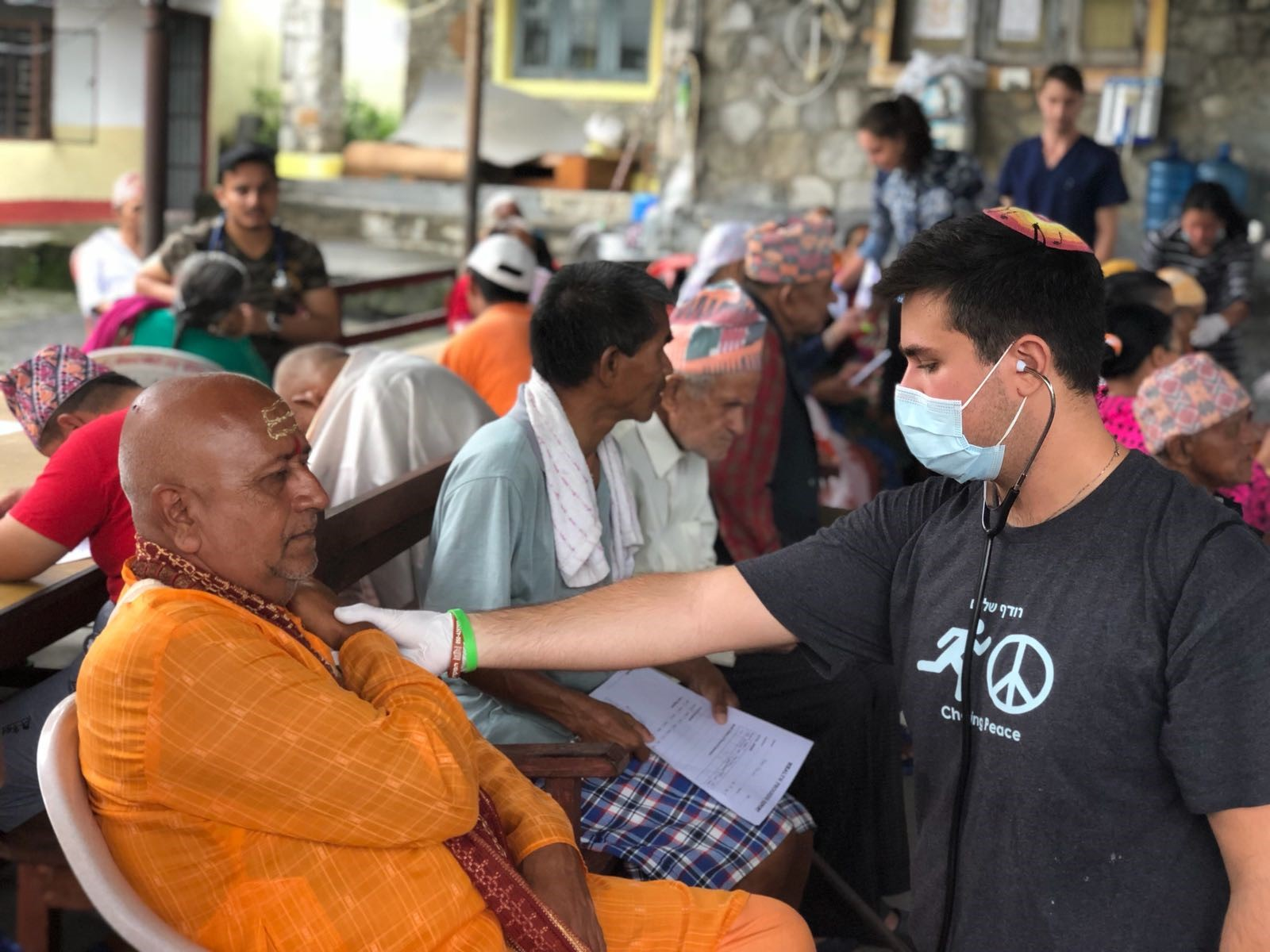 Moses Bibi on touro\'s medical mission to Nepal.