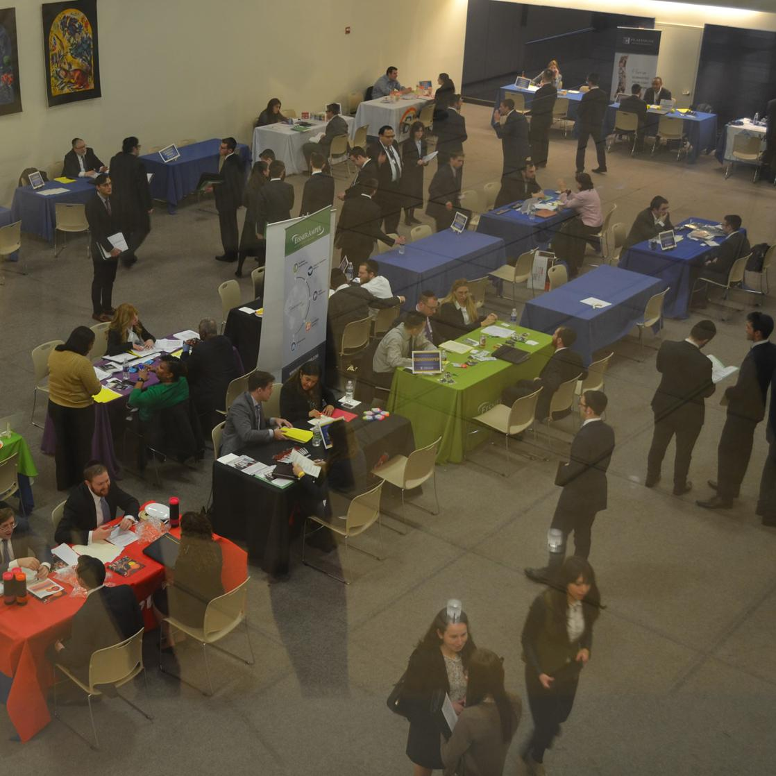 The Spring 2017 Career Fair getting underway